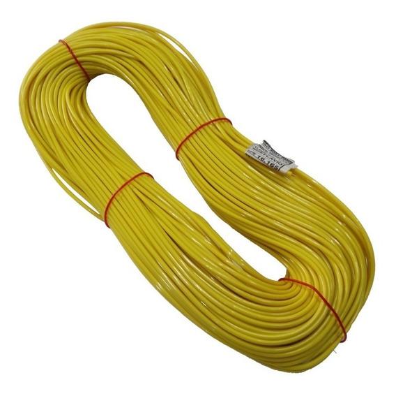 Espaguete Protetor Térmico P/ Fios 70º- 3mm- 50 Mts Amarelo