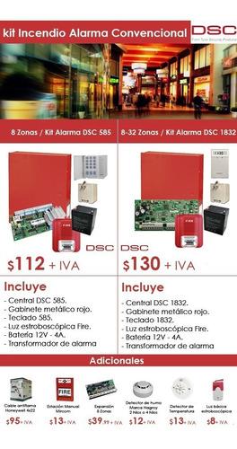 Sistema De Alarma Contra Incendios Dsc 1832