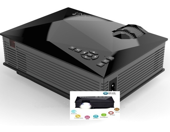 Mini Projetor Wifi Profissional Slides Celular 1200lumen1080