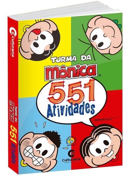 Livro De Atividades Turma Da Mônica 551 Exercícios