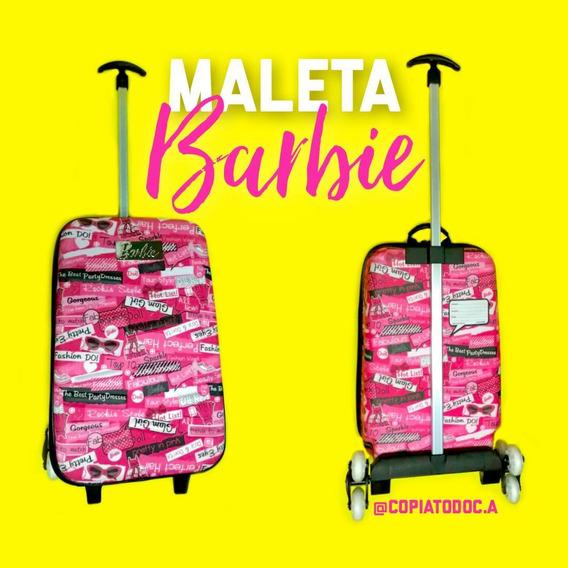 Maleta Barbie, Ben10, Princesas 3d Con 3 Ruedas Originales