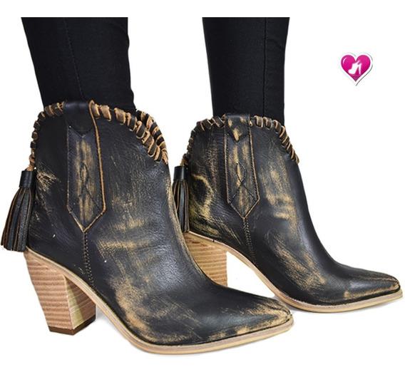 Botineta Texana Vintage Temp Aw19 Mod Keybis De Shoes Bayres