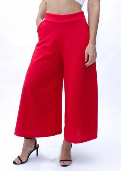 Pantalón Elegante Acampanado Corto Capri. En 3 Colores