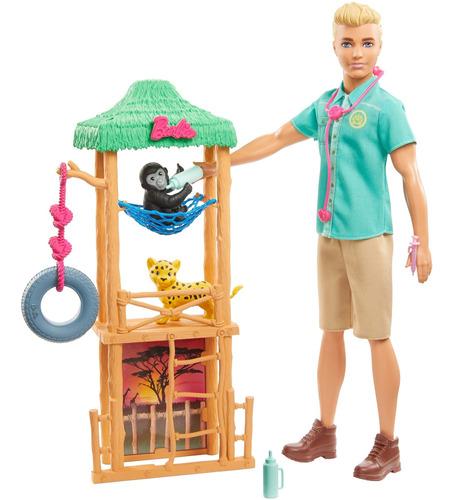 Imagen 1 de 7 de Barbie Careers Ken Veterinario Animales Silvestres
