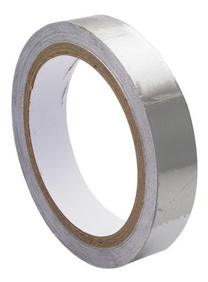 Fita Adesiva Térmica Alumínio Alta Temperatura 25 Mm X 30mts