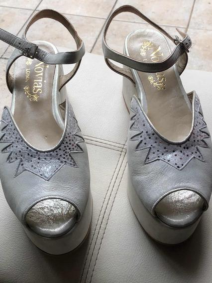 Zapatos De Novia Lomm Talle 39 Nuevos