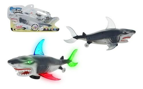 Imagen 1 de 3 de Tiburon Con Luz Y Sonido 1357-373-8 - El Clon