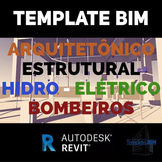 Template Completo Revit Bim Arqui Estru Hidro Elétrico Bomb