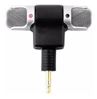 Mini Micrófono Estéreo Doble Tipo Condensador Jack 3.5mm