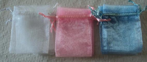 50 Bolsitas De Organza Bolsas Souvenirs Colores 9x12cm