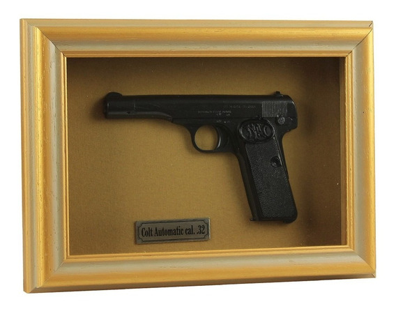 Quadro Decorativo Colt Automatic Cal. .32 - Com Moldura