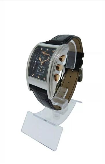 Relógio Roberto Cavalli Analog Chronograph Date Pulseira De Courocrocodile