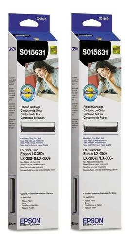 Imagen 1 de 3 de Combo 2 Cintas Epson Impresora Lx-300 / Lx-300+ii / Lx-350
