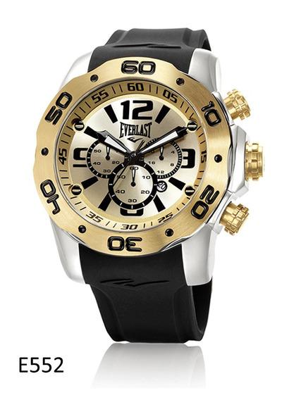Relógio De Pulso Everlast Cronografo Pulseira Silicone E552