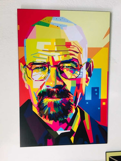 Cuadro Walter White Pop Art 40x60 Vinil Decorativo
