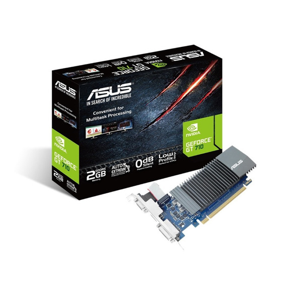 Asus Geforce 2gb Ddr5 Gt 710 Hdmi Silent 4k Low Profil Pc