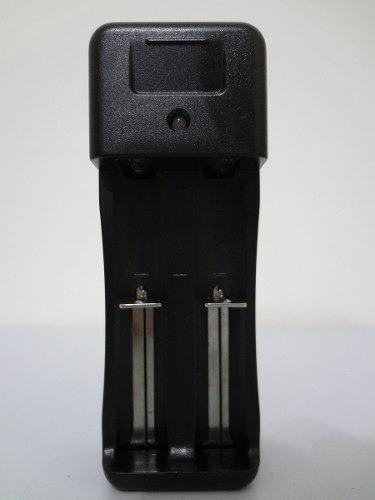 Carregador Duplo Bateria Lanterna 14500 18650 3,7v E 4,2v