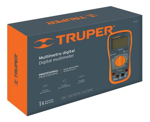 Multimetro Multitester Digital Profesional  Truper Mut-39