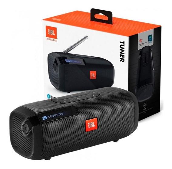 Caixa De Som Jbl Tuner Fm Com Bluetooth Portátil - Preto