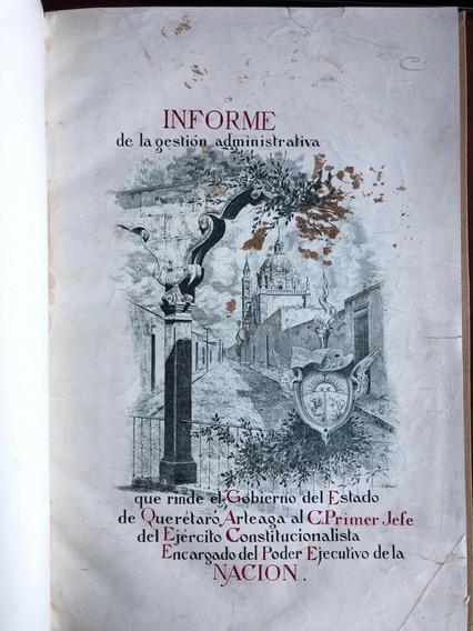 Informe De 1917 De Federico Montes A Venustiano Carranza
