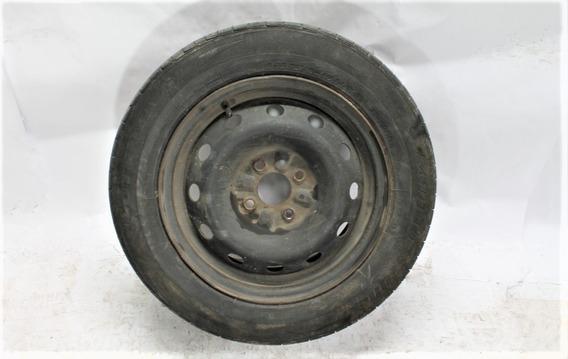 Estepe Roda Aço Aro 14 Original Fiat Com Pneu 18560