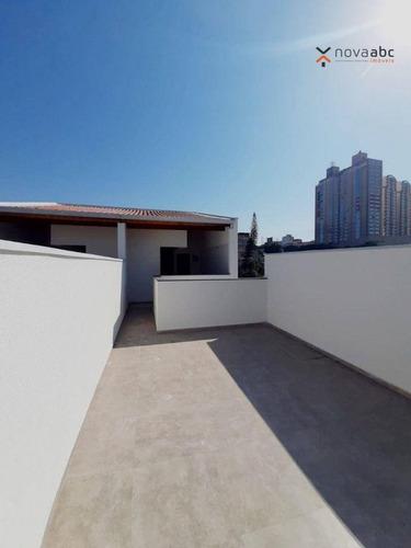 Imagem 1 de 13 de Cobertura Com 2 Dormitórios À Venda, 46 M² Por R$ 375.000 - Vila Apiaí - Santo André/sp - Co1128