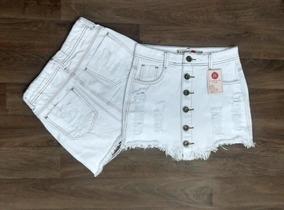 Saia Jeans Hot Pants Destroyed Levanta Bumbum