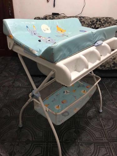 Imagen 1 de 3 de Baño Para Bebé Con Cambiador