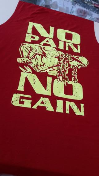 Camiseta Regata Cavada Musculação Fitness Menor Preço Verm.
