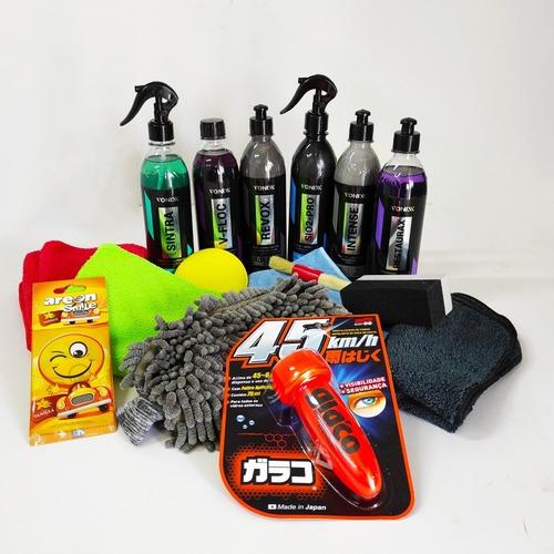 Imagen 1 de 1 de Kit De Lavado Autos Con Tratamiento Cerámico Shine & Style