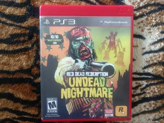 Jogo Ps3 Red Dead Redemption Undead Nightmare Mídia Física