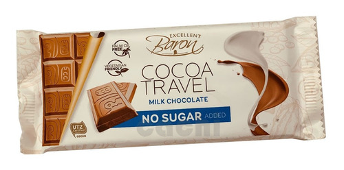 Chocolate Baron Con Leche Sin Azucar 90gr