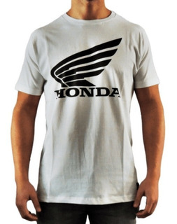 Remera Original Honda Wing W19 Oficial Blanco Yuhmak