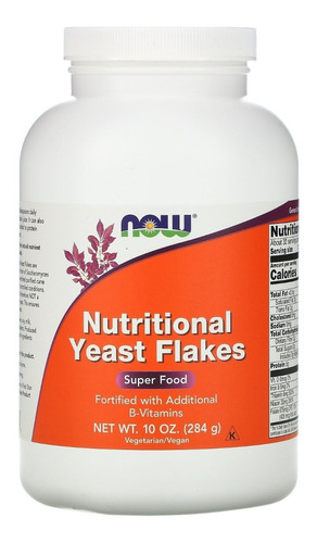 Nutricional Yeast Flakes Now Foods Vegano Importado