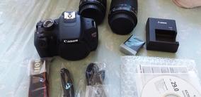 Câmera Canon Profissional T5 + Kit Premium Nova Na Cx
