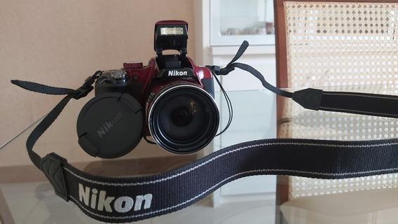Máquina Nikkon P600 Cool 16.1megapixels Wide 60x Zoom Vinho