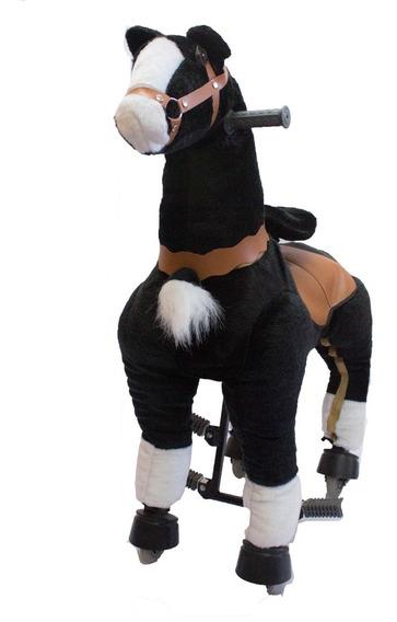 Caballito Pony Funny Grande Con Rueda Andador Negro