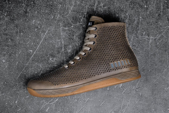 Nobull Trainer Unisex High Top Sand Leather