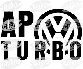 Ap Turbo Volkswagen - 10x6,5 Cm