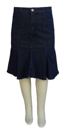 Saia Jeans Evangélica Sereia Plus Size Tamanhos 50 Ao 60