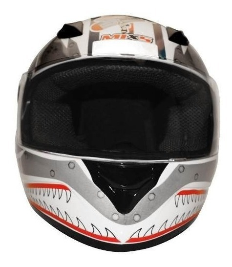 Capacete Mixs Fokker Bomber Ii White Decall N 58 Gjb