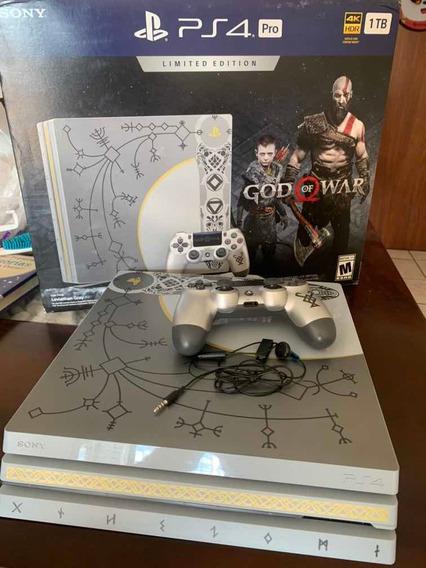 Playstation 4 Ps4 Pro 1 Tb 4k God Of War Edition