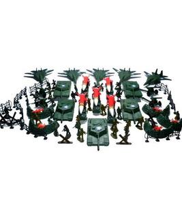150pc Army Men Toy Soldiers Juegan Set & Missiles Tanks J