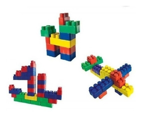 Imagem 1 de 6 de Blocos De Montar 250 Peças Brinquedo Infantil Multiblocos
