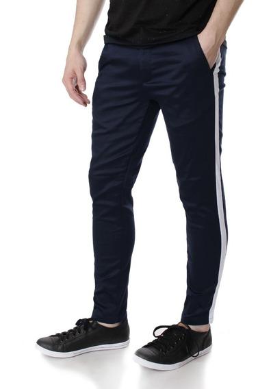 Pantalon De Saten C/tira Lateral No End 32393