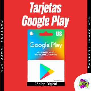 Tarjeta Google Play Store De 5 A Solo 6.50$, Envío Digital