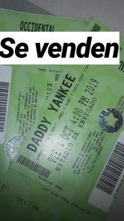 Boletas Occidentales Para Concierto Daddy Yankee