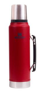 Termo Clásico Rojo Tapón Cebador 1 Litro Stanley 1254.096