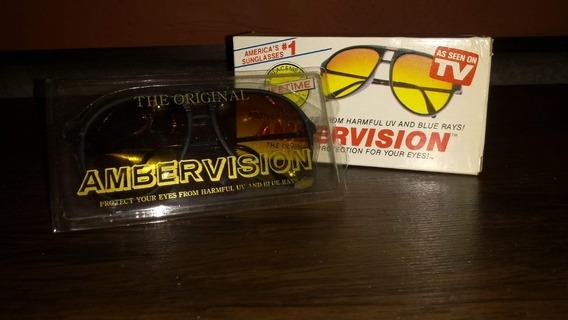 Raridade Óculos Ambervision Importado Nunca Usado Na Caixa.