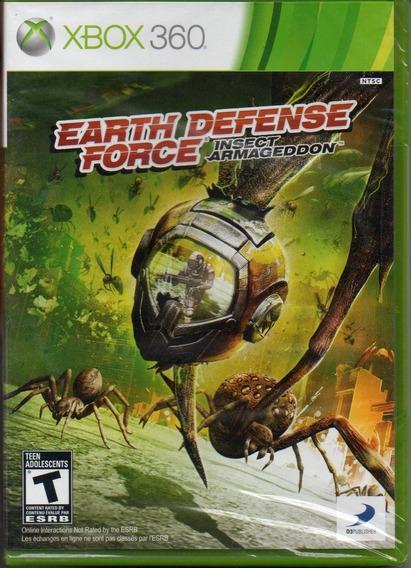 Earth Defense Force Insect Armageddon Xbox 360 Novo Lacrado!
